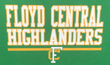stadium chair heat seal transfer floyd central high school indiana fchs highlanders