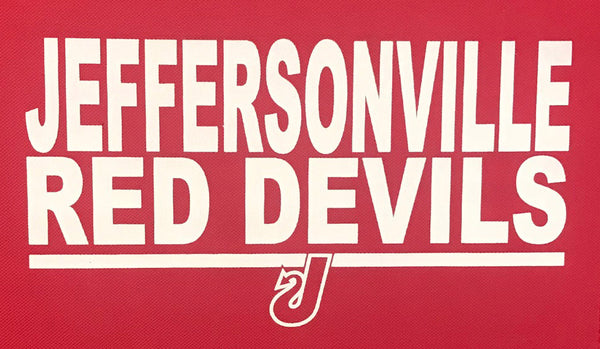 stadium chair heat seal transfer jeffersonville high school indiana jhs red devils