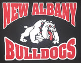 stadium chair heat seal transfer new albany high school indiana nahs bulldogs