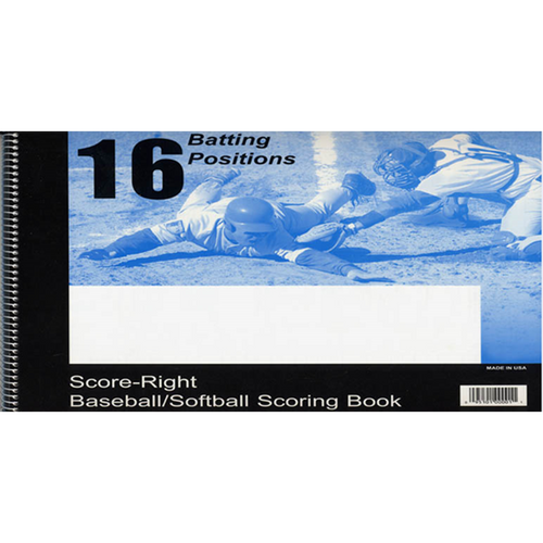 score right publishing baseball softball scorebook 16 player positions 30 games score-right scoring book 16sr100