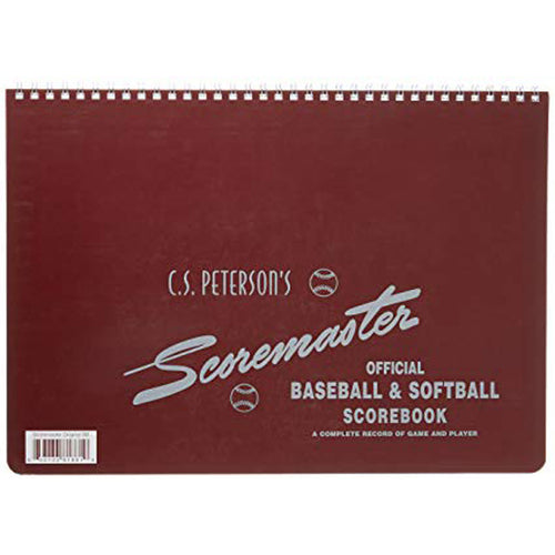 peterson scoremaster official baseball softball scorebook 11 players positions 12 innings 25 games scoring book 7sb1
