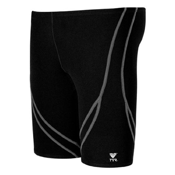 tyr men's alliance splice jammer swimsuit black white sdal7a men mens tight swimming shorts swim short