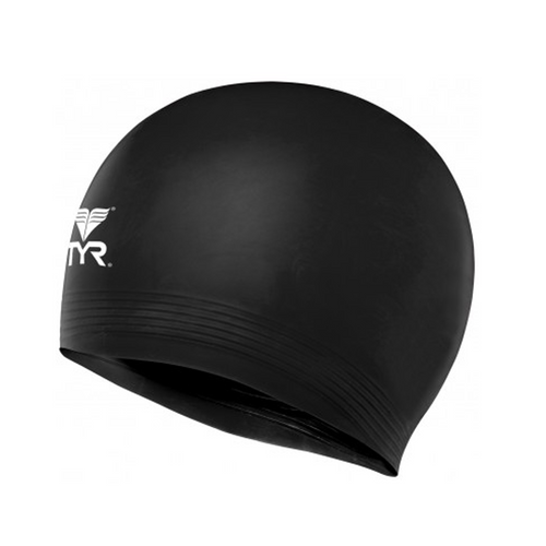 tyr latex swim cap black lcl adult unisex men's mens women's womens swimming cap lcl-black