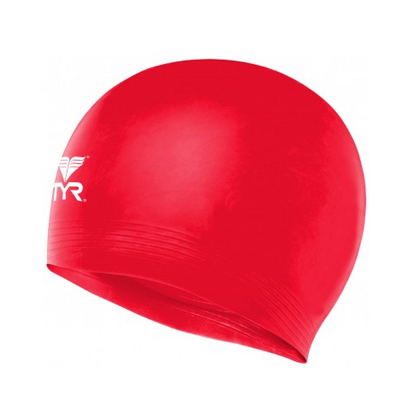 tyr latex swim cap red scarlet lcl adult unisex men's mens women's womens swimming cap lcl-red