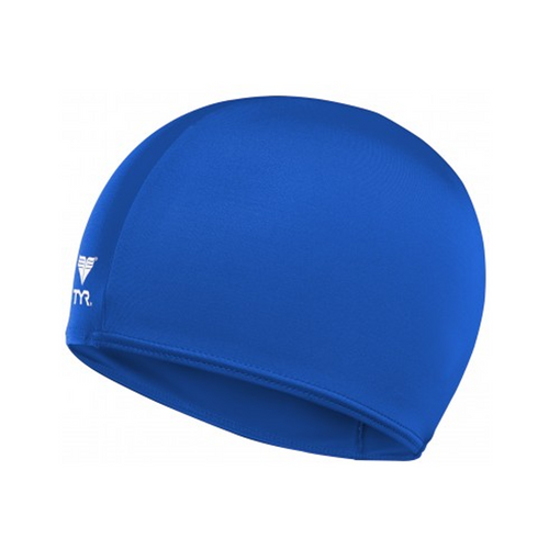 tyr lycra fiber swim cap royal blue lcy adult unisex men's mens women's womens swimming cap lcy-royal lcy-blue