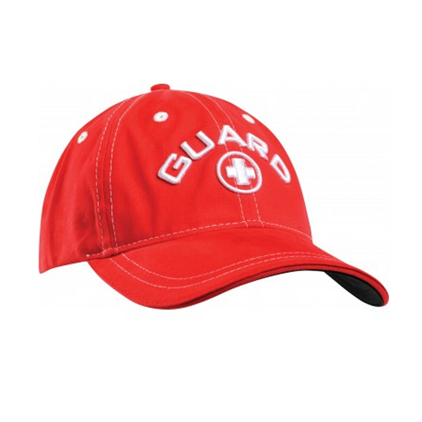 tyr standard guard cap lifeguard hat red white lhgcp adult unisex men's mens women's womens cotton adjustable swim swimming hats