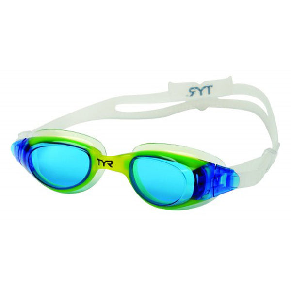 tyr technoflex 4.0 junior jr swim goggles blue yellow lgx4y youth unisex boys girls swimming goggle