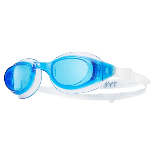 tyr technoflex 4.0 swim goggles blue white lgx4 adult unisex men's mens women's womens lifeguard swimming goggle