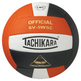 tachikara sv5wsc indoor volleyball orange black white adult unisex nfhs approved