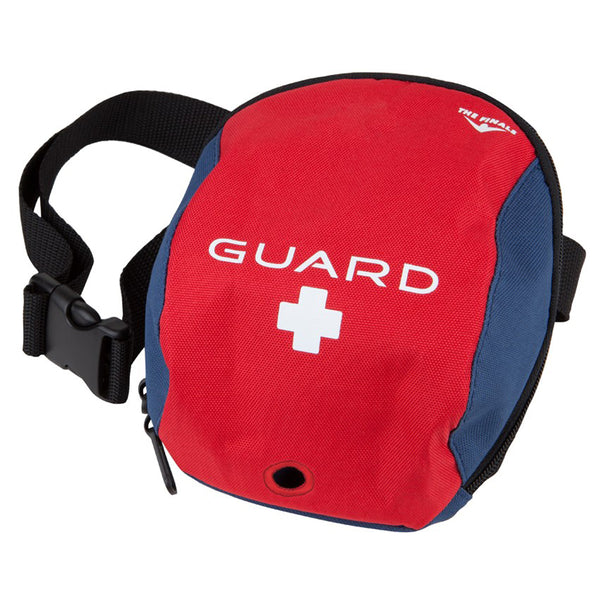 the finals 651 guard hip pack small strap-on portable lifeguard bag navy red white black unisex men's mens women's womens swim swimming bag