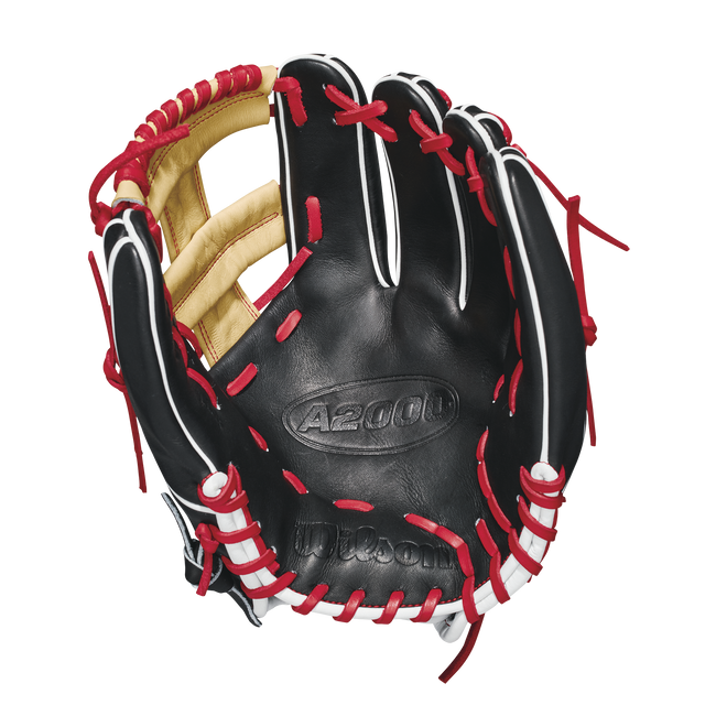"wilson 2018 a2000 1785 11.75"" infield baseball glove wta20rb181785 blonde black red"