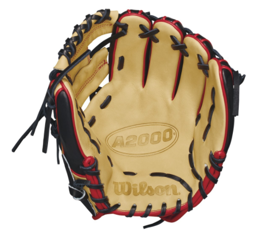 "wilson 2018 a2000 pf88 11.25"" infield baseball glove wta20rb18pf88 blonde black red"