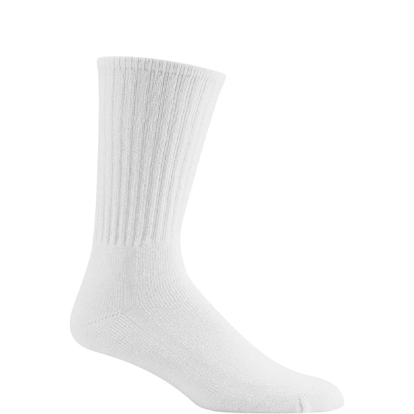 wigwam adult super 60 sport crew sock socks white 6 pack s9020