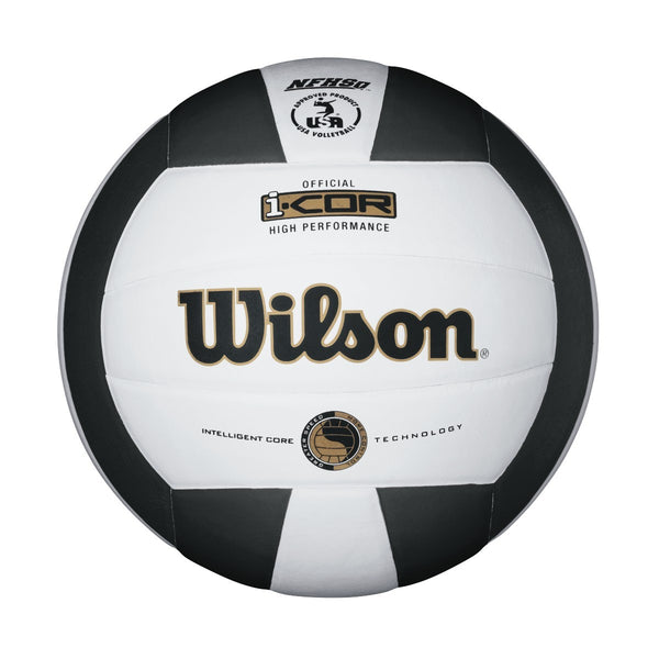 wilson icor high performance volleyball black white wth7700 wth7700bk i-cor indoor nfhs usa approved