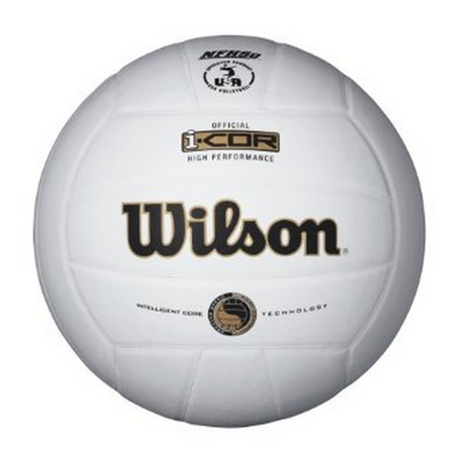 wilson icor high performance volleyball white wth7700 wth7700whi i-cor indoor nfhs usa approved