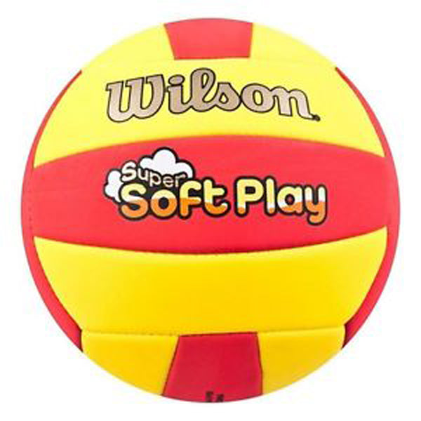 wilson super soft play volleyball red yellow wth3509xd indoor outdoor sand youth adult volleyballs