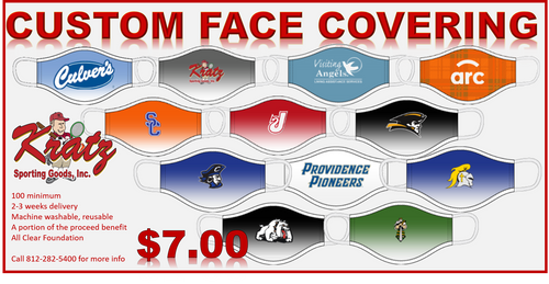 Custom Sublimated 1-ply face covering JB1MKA