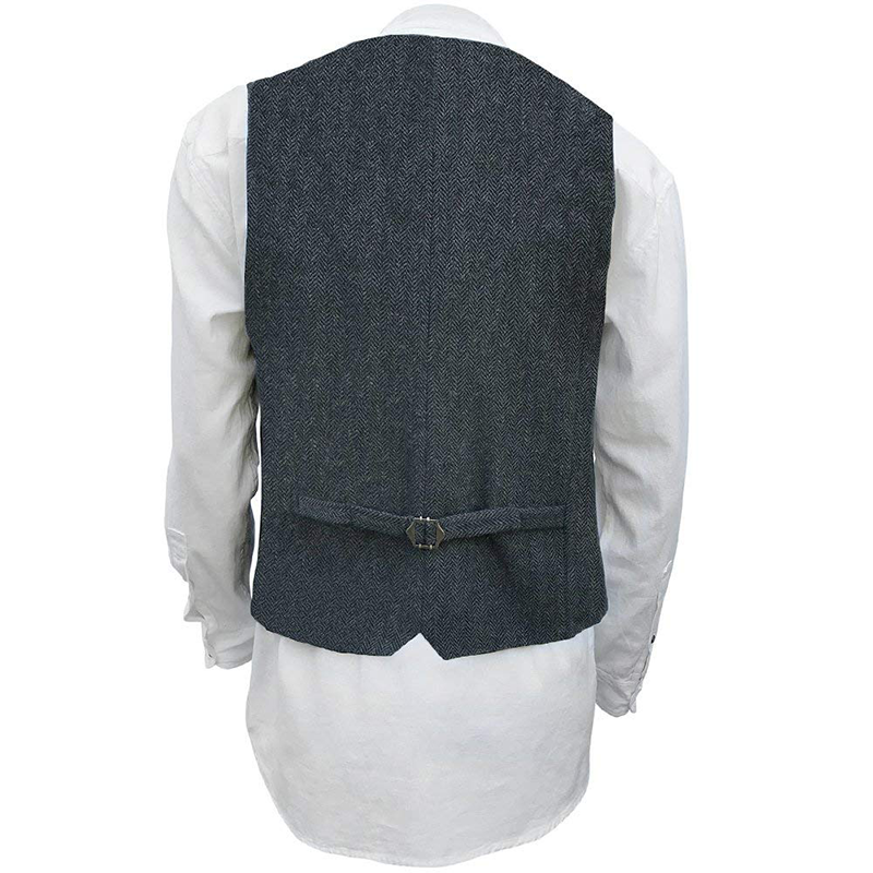navy wool vest by celtic ranchwear