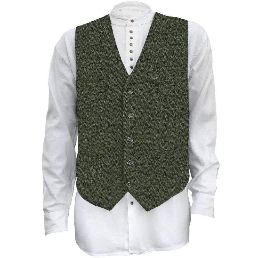 olive wool vest by celtic ranchwear