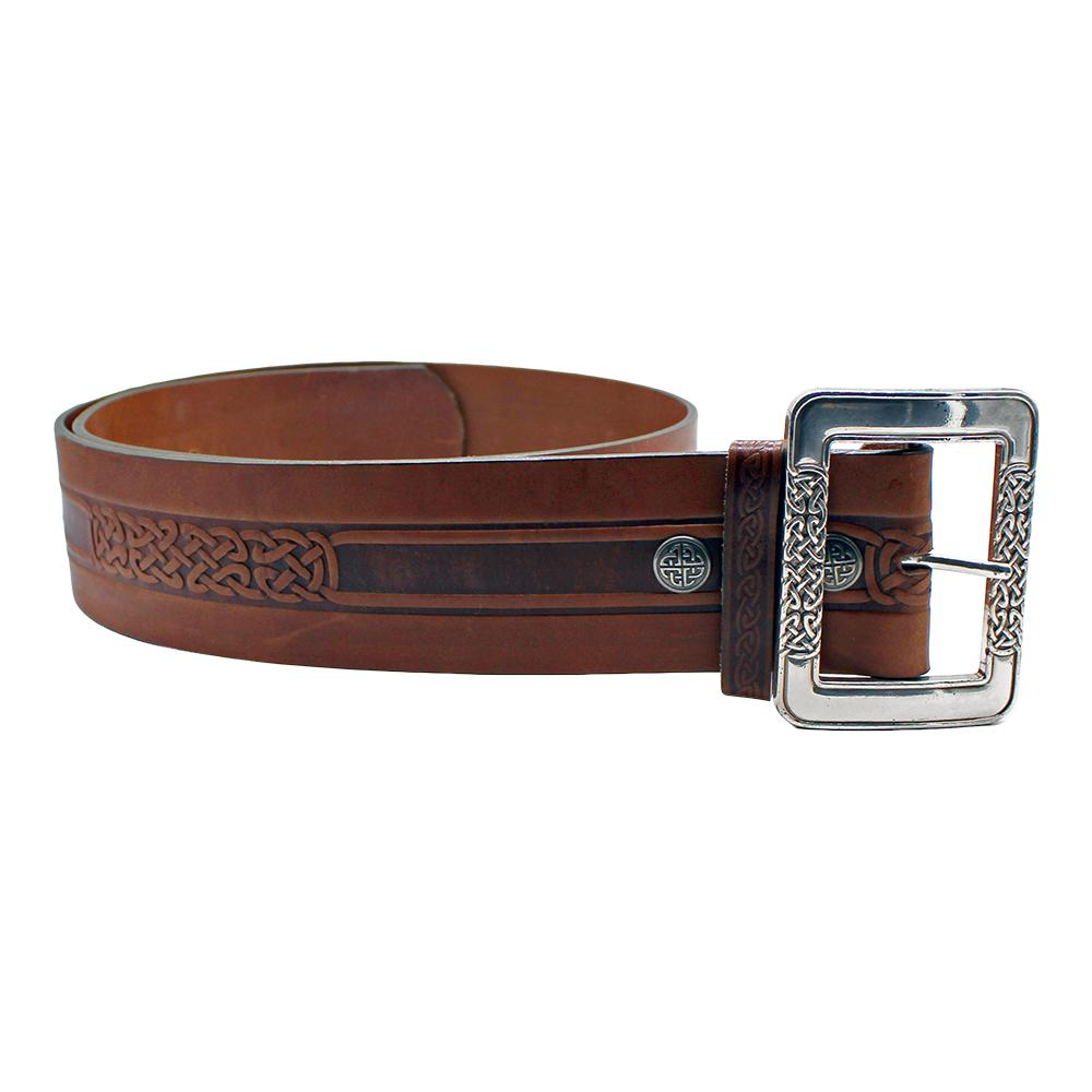 Celtic Knot Leather Kilt Belt