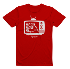 RAPCITYRAISEDME TV TEE - Red/Wht
