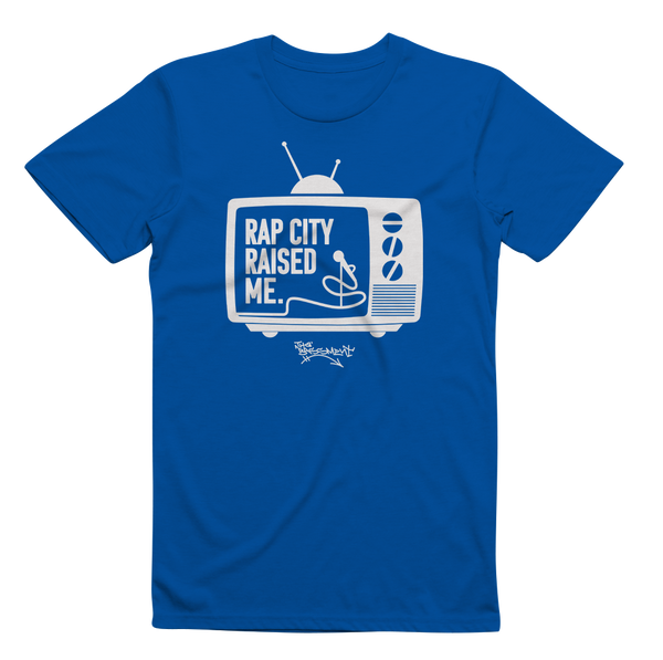 RAPCITYRAISEDME TV - Blue/Wht