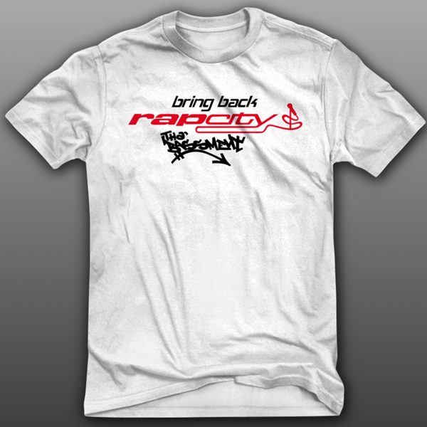 #BRINGBACKRAPCITY TEE  - WHITE/RED