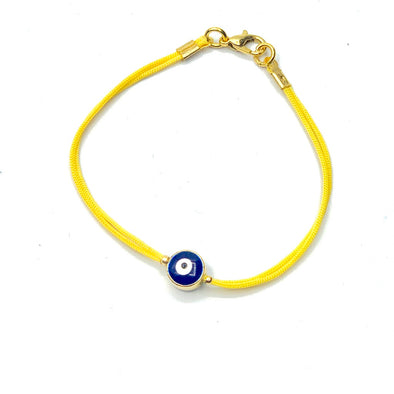 Evil Eye Bracelet on Yellow