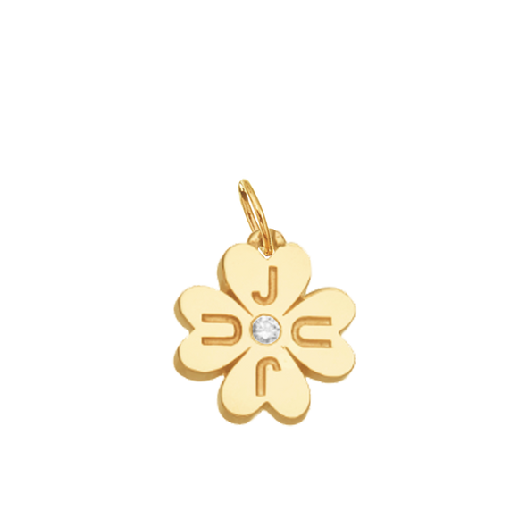 JuJu Lucky Clover in Gold w/ Diamond
