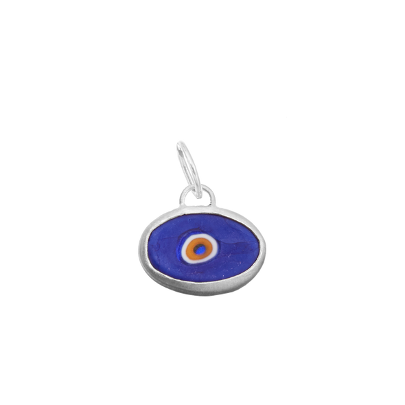 Blue Protection Juju Eyeball in Sterling Silver