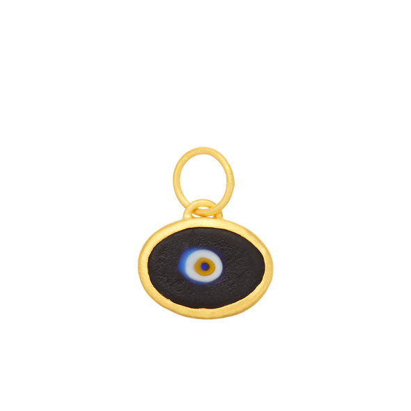 Black Protection JuJu Eye in 24K Gold