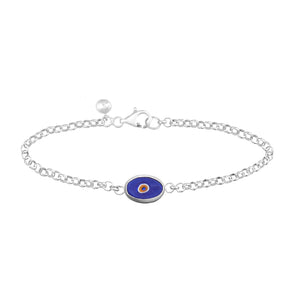 Blue Protection Single JuJu Evil Eye Bracelet in Sterling