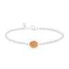 Orange Protection Single JuJu Evil Eye Bracelet in Sterling