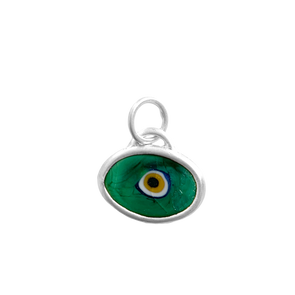 Green Protection Juju Eyeball in Sterling Silver