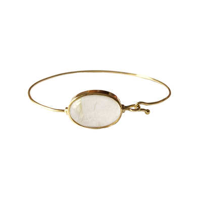 Healing Rock Quartz Bangle