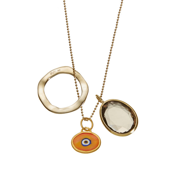 Orange Juju Eyeball Jangle in Gold