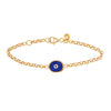 Red Protection Single JuJu Evil Eye Bracelet in 24K Gold
