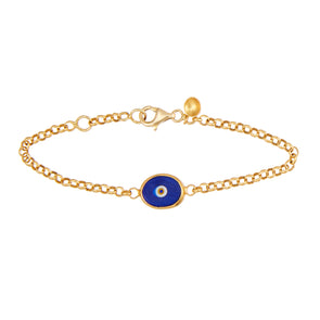 Blue Protection Single Juju Evil Eye Bracelet in 24K Gold