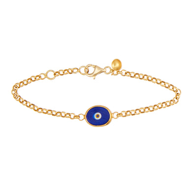 Protection Single Juju Eyeball Bracelet in 22K Gold