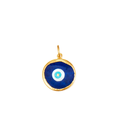 Protection 24K Lapis Inlaid Evil Eye