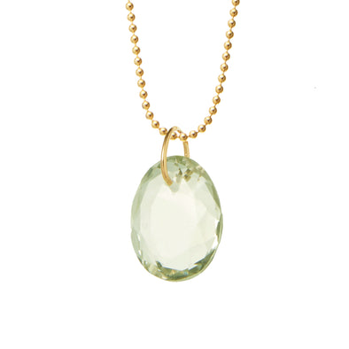 Green Amethyst Crystal for Acceptance