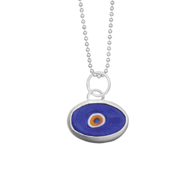 Blue Protection Juju Eyeball in Sterling Silver (more colors!)