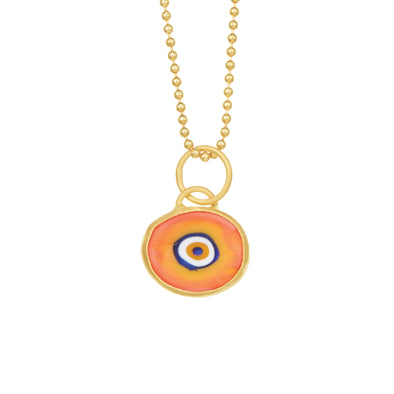 Orange Protection JuJu Eye in 24K Gold