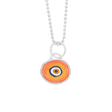 Orange Protection Juju Eyeball in Sterling Silver (more colors!)