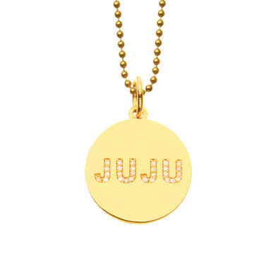Good JuJu Double Sided Diamond Medallion