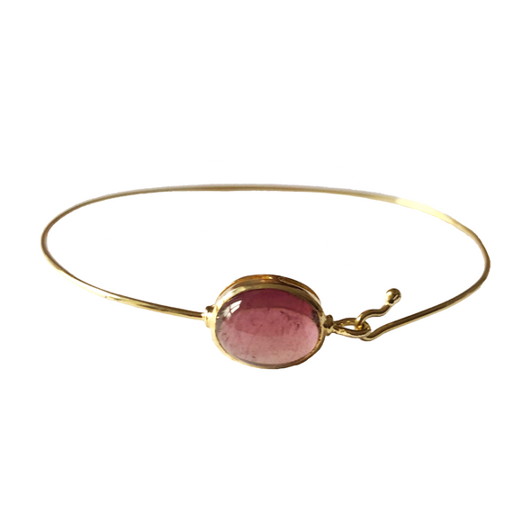 Heart Opening Pink Tourmaline Bangle