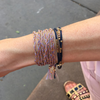 Gold + Silk Woven Intention Bracelet