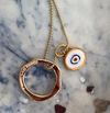 White Protection JuJu Eye in 24K Gold