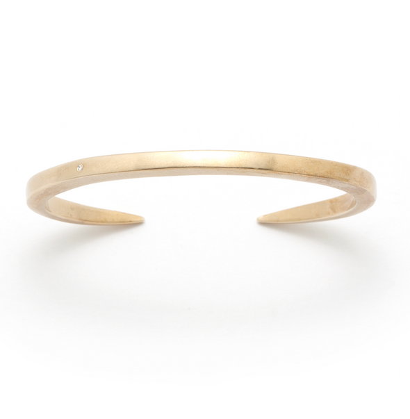 The Enzu Bracelet with Diamond in Bronze