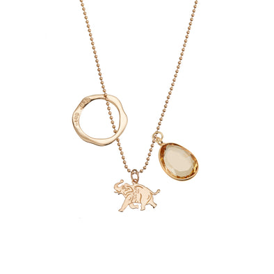 Acceptance Elephant Jangle w/ Golden Citrine